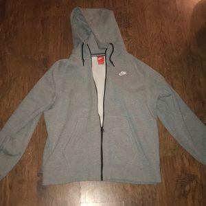 Men's XL Nike zip up hoodie.